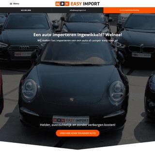 Auto importeren via Easy Import. Verrassend voordelig en eenvoudig!
