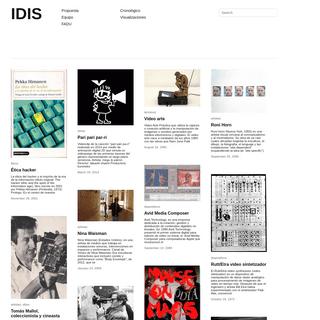 IDIS - investigaciones sobre el Diseño de Imagen y Sonido