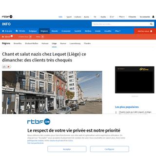 Chant et salut nazis chez Lequet (Liège) ce dimanche- des clients très choqués