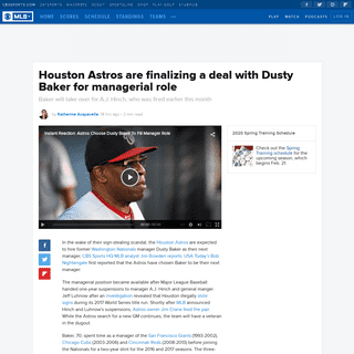 Houston Astros are finalizing a deal with Dusty Baker for managerial role - CBSSports.com