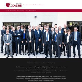 Accueil - Groupe CADRE