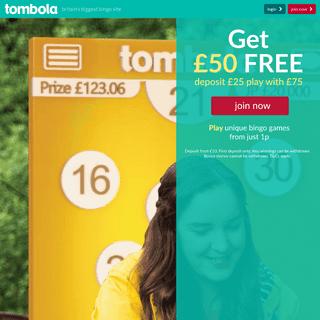 Play Bingo Online - tombola - Britain's Biggest Bingo Site