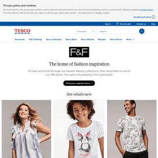Clothing - F&F Clothing & Fashion - Tesco
