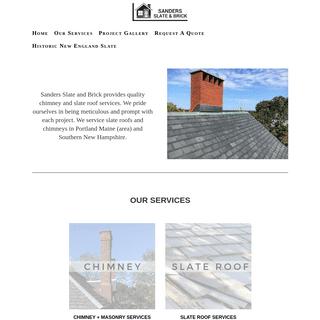 Sanders Slate & Brick - New England Slate Roof and Chimney Repair