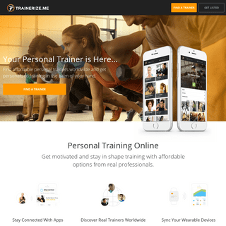 Trainerize.me - Find affordable online personal trainers worldwide