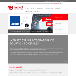 ArchiveBay.com - webnet.fr - Intégrateur de solutions digitales - Webnet