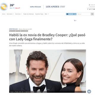 Habló la ex novia de Bradley Cooper- ¿Qué pasó con Lady Gaga finalmente-