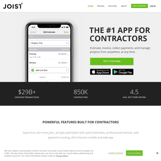 ArchiveBay.com - joistapp.com - Joist - Contractor Estimate, Invoice, and Payments App