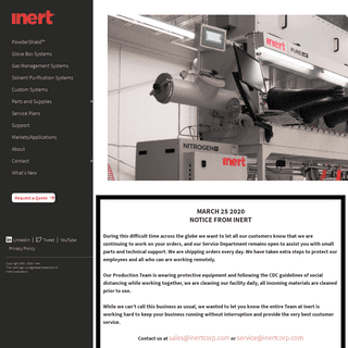 Glove Boxes - Inert Gas Management, Solvent Purification, Glovebox Systems