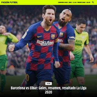 Barcelona vs Eibar- Goles, resumen, resultado La Liga 2020 - Pasión Fútbol