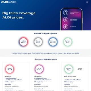 Prepaid mobile phone plans from ALDImobile