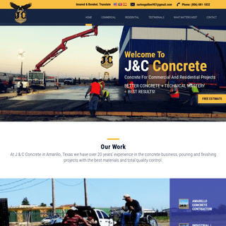 ArchiveBay.com - jandcconcrete.com - J & C Concrete - Amarillo, TX - Commercial – Agricultural – Residential
