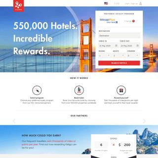 Kaligo - 550,000 Hotels. Incredible Rewards.