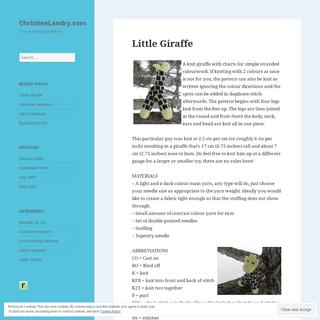 ChristineLandry.com – I heart knitting patterns