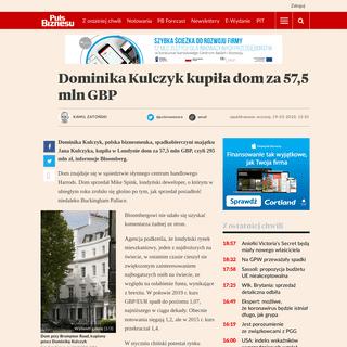 ArchiveBay.com - www.pb.pl/dominika-kulczyk-kupila-dom-za-575-mln-gbp-982832 - Dominika Kulczyk kupiła dom za 57,5 mln GBP - Puls Biznesu - pb.pl