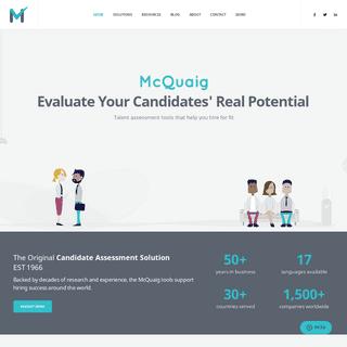 ArchiveBay.com - mcquaig.com - Home - McQuaig Institute