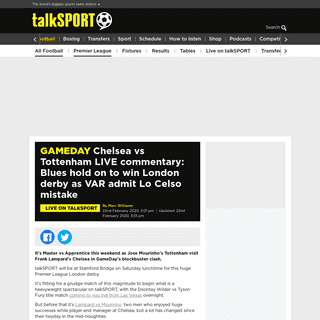 Chelsea vs Tottenham LIVE commentary- Blues hold on to win London derby as VAR admit Lo Celso mistake