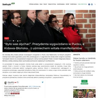 """""""Było was słychać"""". Prezydenta wygwizdano w Pucku, a Kidawa-Błońska… z uśmiechem witała manifestantów – Wiadomo�"""