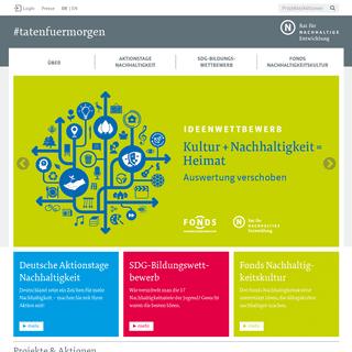 ArchiveBay.com - tatenfuermorgen.de - #tatenfuermorgen - Deutsche Aktionstage Nachhaltigkeit