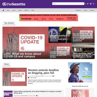 The Gazette - Official Student Newspaper of Western University, trusted since 1906.