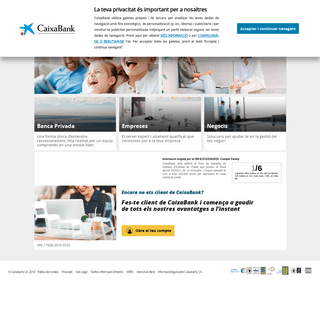 CaixaBank - Particulars, Empreses - -la Caixa-