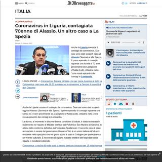 ArchiveBay.com - www.ilmessaggero.it/italia/coronavirus_liguria_alassio_diretta_ultime_notizie_25_febbraio_2020-5074080.html - Coronavirus in Liguria, contagiata 70enne di Alassio. Un altro caso a La Spezia