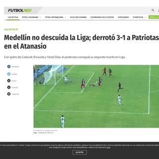Medellín venció a Patriotas. Crónica, goles y calificaciones - Futbol Colombiano - Liga BetPlay - Futbolred