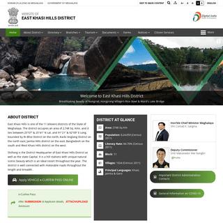 East Khasi Hills - Government of Meghalaya - India
