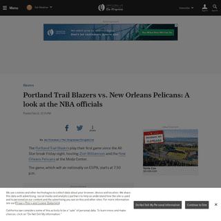 ArchiveBay.com - www.oregonlive.com/blazers/2020/02/portland-trail-blazers-vs-new-orleans-pelicans-a-look-at-the-nba-officials.html - Portland Trail Blazers vs. New Orleans Pelicans- A look at the NBA officials - oregonlive.com