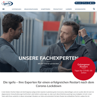 Fachgroßhandel Deutschland - igefa - mit Sicherheit versorgt
