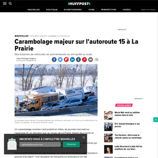 ArchiveBay.com - quebec.huffingtonpost.ca/entry/carambolage-autoroute-15-laprairie_qc_5e4d8201c5b630e74c4f8ccc - Carambolage majeur sur l'autoroute 15 à La Prairie - HuffPost Québec