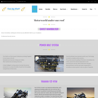 Check My Wheels Ltd – The Motor world under one roof