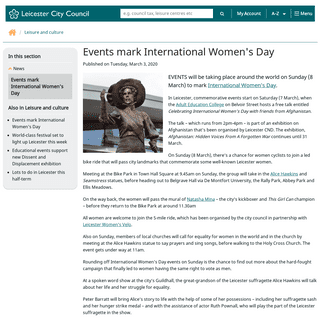 Events mark International Women's Day