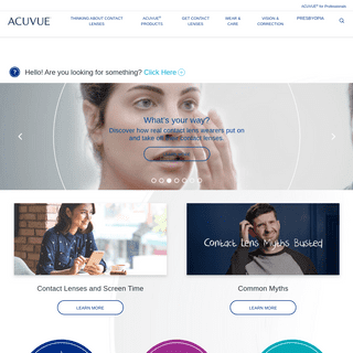 Discover our Range of Contact Lenses for Clear and Comfortable Vision - Acuvue®