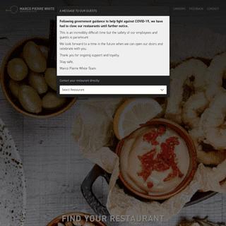 Marco Pierre White Restaurants - Steakhouse, Bar & Grill UK