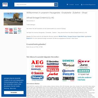 Alfred Striegel - Ersatzteile für Hausgeräte - B2B und B2C Ersatzteilshop