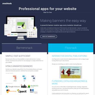 SnackTools - Free web apps & blog and website widgets