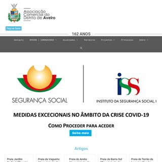 Associação Comercial do Distrito de Aveiro – Site com temas de interesse para os associados