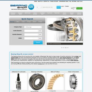 Bearing Shop UK - Bearings, Belts, Seals, O Rings, Pulleys