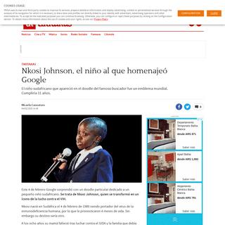 Nkosi Johnson, el niño al que homenajeó Google - AS Argentina