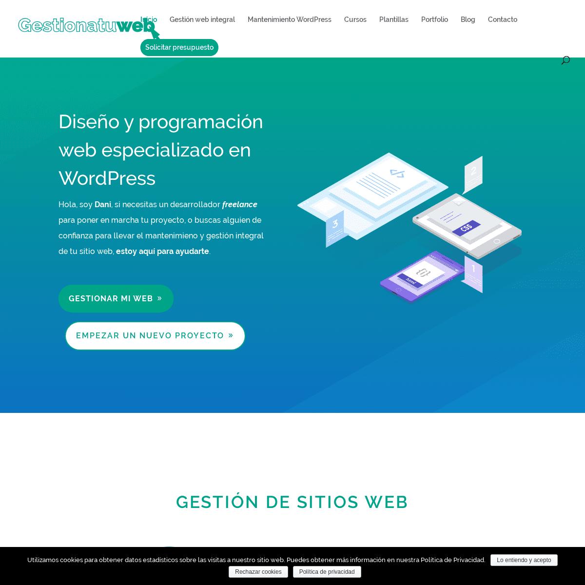 Diseño Web Granada - Desarrollador WordPress Freelance