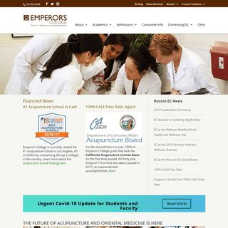 Emperors Acupuncture School, Los Angeles CA. Ranked #1 in California.