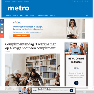 Complimentendag- 1 werknemer op 4 krijgt nooit een compliment - Metro