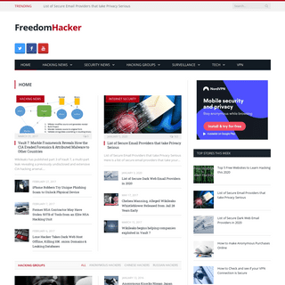 Freedom Hacker - Hacking News, Security News & Everything Cyber