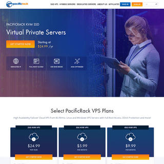 PacificRack - KVM SSD VPS, Hybrid Dedicated Servers, Dedicated Servers, Virtual Private Servers, Asia-Optimized Network