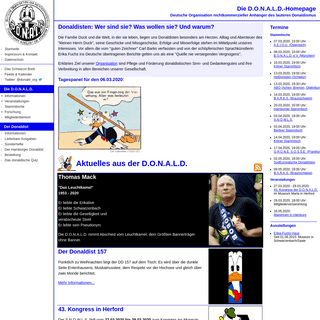 Die D.O.N.A.L.D.-Homepage