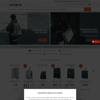Suitcases and travel bags - Samsonite UK Official luggage shop