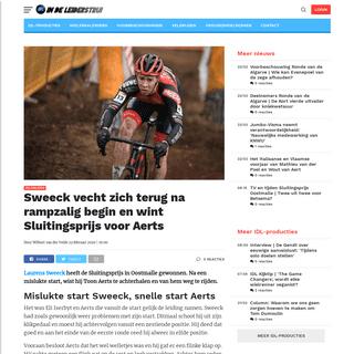 Sweeck vecht zich terug na rampzalig begin en wint Sluitingsprijs voor Aerts - In de Leiderstrui