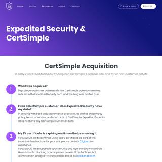 Expedited Security & CertSimple