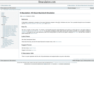 E-Maculation- All About Macintosh Emulation [E-Maculation wiki]